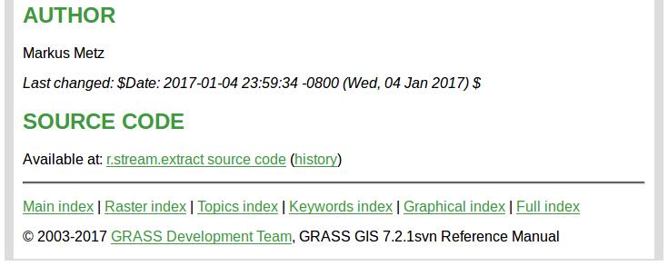 GRASS GIS 7 2